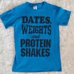 Delta Shirts - Dates, Weights and Protein Shakes Screen Print